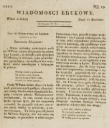 Wiadomości Brukowe. Nr 19 (1817)