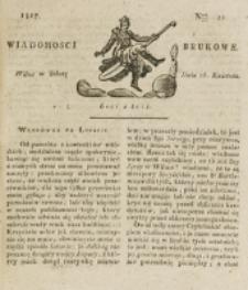 Wiadomości Brukowe. Nr 21 (1817)