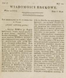 Wiadomości Brukowe. Nr 22 (1817)