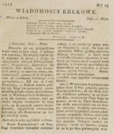 Wiadomości Brukowe. Nr 23 (1817)