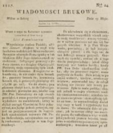 Wiadomości Brukowe. Nr 24 (1817)