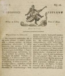 Wiadomości Brukowe. Nr 25 (1817)