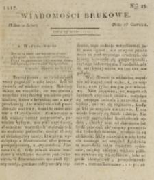 Wiadomości Brukowe. Nr 29 (1817)
