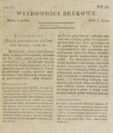Wiadomości Brukowe. Nr 31 (1817)