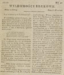 Wiadomości Brukowe. Nr 40 (1817)