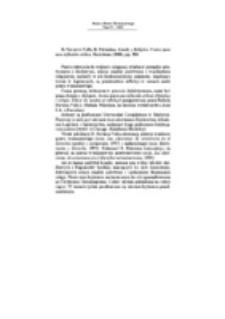 Recenzja : R. Navarro-Valls, R. Palomino, Estado y Religión. Textos para una reflexión crítica, Barcelona (2000), pp. 380.