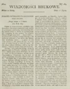 Wiadomości Brukowe. Nr 189 (1820)