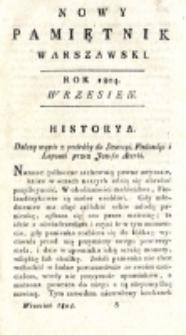 Nowy Pamiętnik Warszawski : [dziennik historyczny, polityczny, tudzież nauk i umiejętności]. T. 15 (wrzesień 1804)