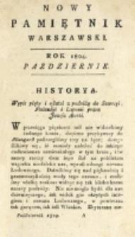 Nowy Pamiętnik Warszawski : [dziennik historyczny, polityczny, tudzież nauk i umiejętności]. T. 16 (październik 1804)