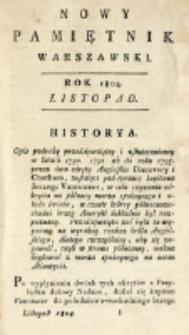 Nowy Pamiętnik Warszawski : [dziennik historyczny, polityczny, tudzież nauk i umiejętności]. T. 16 (listopad 1804)