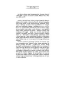 Recenzja : La libertà religiosa negli insegnamenti di Giovanni Paolo II(1978-1998), a cura di Alessandro Colombo, Milano: Vita e Pensiero 2000, ss. 287.