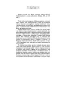 Recenzja : Stefano Ceccanti, Una libertà comparata. Libertà religiosa, fondamentalismi e società multietniche, Bologna 2001, ss. 253, nlb. 9.