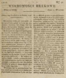 Wiadomości Brukowe. Nr 42 (1817)