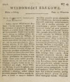 Wiadomości Brukowe. Nr 43 (1817)