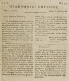 Wiadomości Brukowe. Nr 44 (1817)