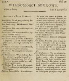 Wiadomości Brukowe. Nr 48 (1817)