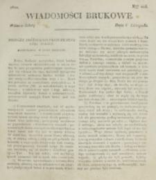 Wiadomości Brukowe. Nr 205 (1820)