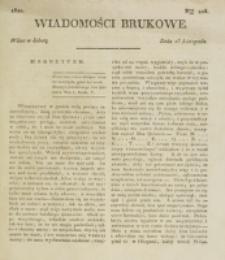 Wiadomości Brukowe. Nr 206 (1820)