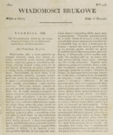Wiadomości Brukowe. Nr 245 (1821)