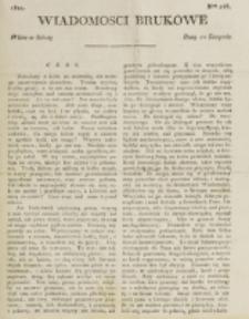 Wiadomości Brukowe. Nr 246 (1821)