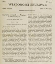 Wiadomości Brukowe. Nr 249 (1821)