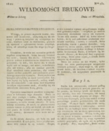 Wiadomości Brukowe. Nr 251 (1821)