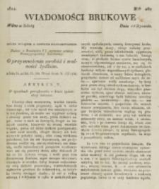 Wiadomości Brukowe. Nr 267 (1822)