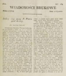 Wiadomości Brukowe. Nr 269 (1822)