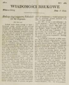 Wiadomości Brukowe. Nr 285 (1822)