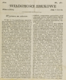 Wiadomości Brukowe. Nr 287 (1822)