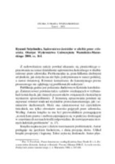 Recenzja : Ryszard Sztychmiler, Sądownictwo kościelne w służbie praw człowieka, Olsztyn: Wydawnictwo Uniwersytetu Warmińsko-Mazurskiego 2000, ss. 164.