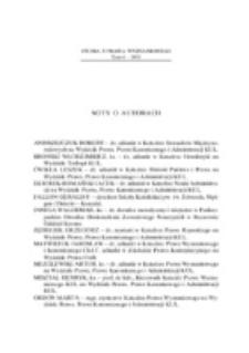 Studia z Prawa Wyznaniowego. 6 (2003). Noty o autorach.