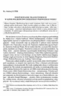 Poszukiwanie transcendencji w kinie polskim dwudziestego pierwszego wieku.