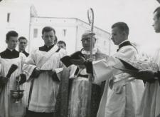 Uroczystość rozpoczęła się przywitaniem czcigodnych Gości przez Ks. Bpa P. Kałwę...