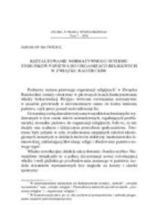 Kształtowanie normatywnego systemu stosunków państwa do organizacji religijnych w Związku Radzieckim.