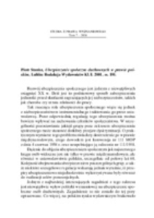 Recenzja : Piotr Stanisz, Ubezpieczenie społeczne duchownych w prawie polskim, Lublin Redakcja Wydawnictw KUL 2001, ss. 195.