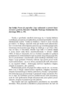 Recenzja : Jan Gołąb, Prawo do pogrzebu i jego wykonanie w prawie kanonicznym i polskim, Rzeszów Poligrafia Wyższego Seminarium Duchownego 2004, ss. 392.