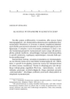 Klauzule wyznaniowe w Konstytucji RP.