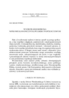 Wychowanie dziecka w prawie kanonicznym, polskim i wspólnotowym.
