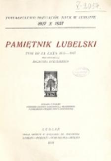 Pamiętnik Lubelski. T. 3 za lata 1935-1937