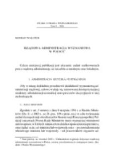 Rządowa administracja wyznaniowa w Polsce.