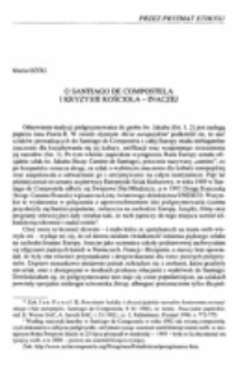 O Santiago de Compostela i kryzysie Kościoła - inaczej.