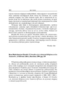 Recenzja : Rosa María Satorras Fioretti , El Derecho a la Asistencia Religiosa en los Tanatorios, J. M. Bosch Editor, Barcelona 2004, pp. 210.