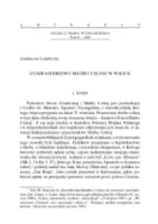 Duszpasterstwo służby celnej w Polsce.