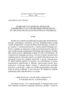 Wybrane zagadnienia związane z reprezentacją parafii przez proboszcza na gruncie prawa kanonicznego i polskiego.