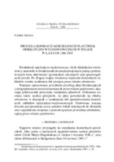 Proces likwidacji kościelnych placówek opiekuńczo-wychowawczych w Polsce w latach 1946-1965.