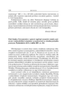 Recenzja : Piotr Stanisz, Porozumienia w sprawie regulacji stosunków między państwem i niekatolickimi związkami wyznaniowymi we włoskim porządku prawnym, Lublin Wydawnictwo KUL 2007, ss. 314 .