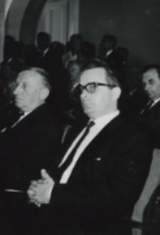 R. Chatel - radca kulturalny ambasady francuskie oraz J. Zawiejski - Poseł na Sejm PRL