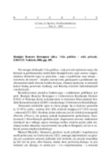 Recenzja : Remigio Beneyto Berenguer (dir.), Vida pública - vida privada, EDICEP, Valencia 2006, pp. 285.