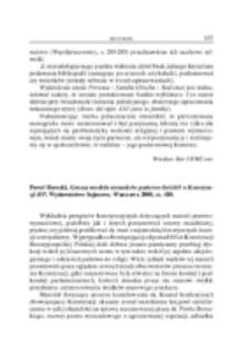 Recenzja : Paweł Borecki, Geneza modelu stosunków państwo-kościół w Konstytucji RP, Wydawnictwo Sejmowe, Warszawa 2008, ss. 410.